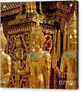 Golden Buddhas Acrylic Print