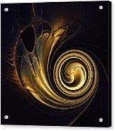 Golden Spiral Acrylic Print