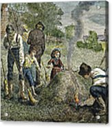 Grasshopper Plague, 1875 Acrylic Print