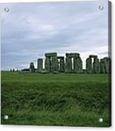 Gray Clouds Over The Ancient Ruins Acrylic Print