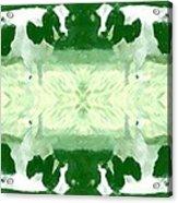 Green Cows Acrylic Print