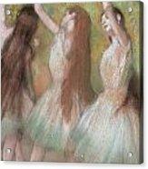 Green Dancers Acrylic Print by Edgar Degas