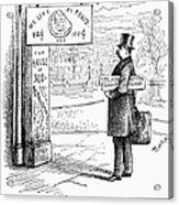 Grover Cleveland Cartoon Acrylic Print