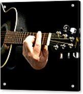 Guitar In Hands  Acrylic Print
