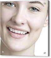 Happy Young Woman Acrylic Print