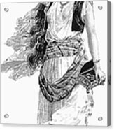 Harem Woman. 19th Century Acrylic Print