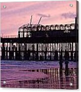 Hastings Pier After The Fire Acrylic Print by Dawn OConnor