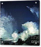 Hawaiian Surf Acrylic Print