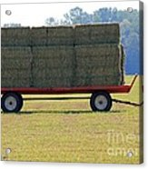 Hay Wagon Acrylic Print
