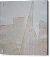 Hazy Fog Clearing Over San Francisco Acrylic Print