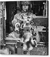 Hdr Image Of A Uh-60 Black Hawk Door Acrylic Print