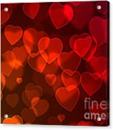 Hearts Background Acrylic Print