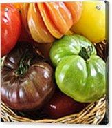Heirloom Tomatoes Acrylic Print by Elena Elisseeva