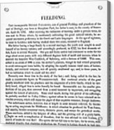Henry Fielding (1707-1754) Acrylic Print