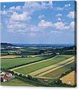 High Angle View Of Fields, Stradbally Acrylic Print