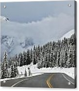 Highway 40 In Winter, Highwood Pass Acrylic Print