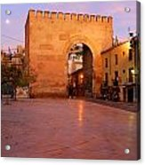 Historic Door In Granada Elvira Arch Acrylic Print