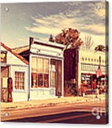 Historic Niles District In California Near Fremont . Main Street . Niles Boulevard . 7d10676 Acrylic Print by Wingsdomain Art and Photography