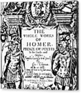 Homer Title Page, 1616 Acrylic Print