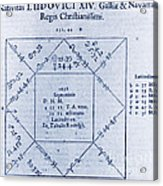 Horoscope Chart For Louis Xiv, 1661 Acrylic Print by Science Source