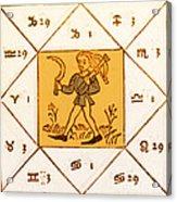Horoscope Types, Engel, 1488 Acrylic Print