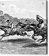 Horse Racing, 1900 Acrylic Print by Granger