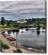 Hoyt Lake Delaware Park 0005 Acrylic Print