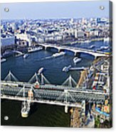 Hungerford Bridge Seen From London Eye Acrylic Print