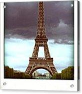 Illustration Of Eiffel Tower Acrylic Print
