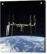 International Space Station Backdropped Acrylic Print
