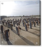 Iraqi Police Cadets Being Trained Acrylic Print