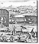 Iroquois Village, 1664 Acrylic Print