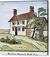 Isaac Newton Birthplace Acrylic Print
