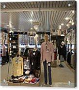 Italian Fashion Shop For Men Tallinn Acrylic Print