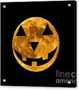Jack-o-lantern Moon Acrylic Print