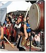 Japanese Drummers Perform In Kaohsiung Taiwan Acrylic Print