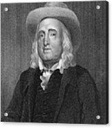 Jeremy Bentham (1748-1832) Acrylic Print