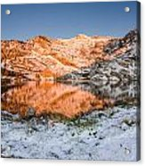 June Snowfall At Angel Lake Acrylic Print