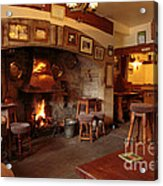 Kings Head Pub Kettlewell Acrylic Print by Louise Heusinkveld
