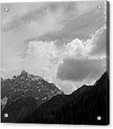 Kranjska Gora In Black And White Acrylic Print