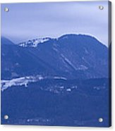 Krvavec And The Kamnik Alps At Dawn Acrylic Print