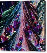 L. Histidine Crystals Acrylic Print by M. I. Walker