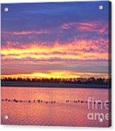 Lagerman Reservoir Sunrise Acrylic Print
