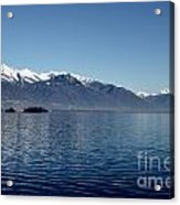 Lake With Snow-capped Mountain Acrylic Print