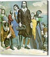Landing Of The Pilgrims At Plymouth Acrylic Print