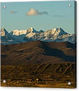 Landscape Of The Highlands And The Cordillera Real. Republic Of Bolivia. Acrylic Print