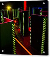 Laser Game Area With Obstacles Acrylic Print by Corepics