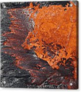 Lava Bursting At Edge Of Active Lava Acrylic Print