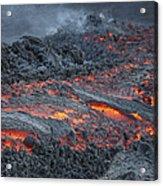 Lava Flow On The Flank Of Pacaya Acrylic Print