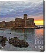 Le Castella Castle Acrylic Print by Gualtiero Boffi